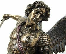 LARG Archangel- ST. Michael Standing Over Demon With Sword Statue Sculpture