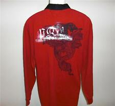 NWT Mens POLO RALPH LAUREN Red Rugby Crest Shirt S $98
