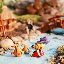10pcs Poissons tropicaux miniature dollhouse Bonsai décoration pour pot décor
