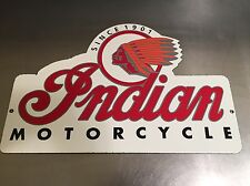 INDIAN MOTORCYCLE, PORCELAIN SIGN, PUMP PLATE, GAS, GASOLINE, OIL