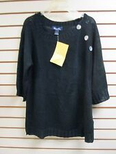 Denim & Co Knit 3/4 Sleeve Sweater Black, Size 1X - NWT