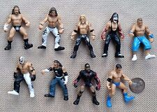 "Lot of 9 WWE Minifigures 2"" Mini Figures  WWF"