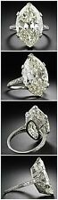 12ct antique engagement ring inspired 925 Sterling silver White Marquise  Cz Sz