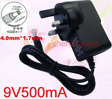 UK AC 100V-240V DC 9V 500mA Switching Power Supply 0.5A Adaptor DC 4.0mm x 1.7mm