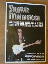Yngwie Malmsteen - Glasgow 2008 tour concert gig poster