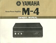 Yamaha M-4 User Manual BDA Bedienungsanleitung ENGLISH