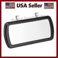 New Large Black Clip On Sun Visor / Vanity Mirror For Car/ Truck/ Automobile/ RV