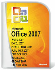 MICROSOFT Office 2007 Word/Excel/OUTLOOK/Pub/accesso/3 Pc User DVD Versione Completa