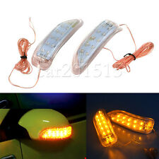2 X 13LED Yellow Waterproof Auto Side Rearview Mirror Turn Signal Lamp Universal