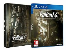 FALLOUT 4 GAME & STEELBOOK - Playstation 4 PS4 - NEW & SEALED - FREE UK POST
