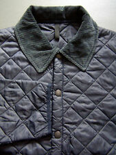 BARBOUR D349 LIDDESDALE QUILTED JACKET MEN'S LARGE DARK NAVY BLUE PADDED BBS707