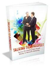 Talking To A Prospect Ebook On CD $5.95 Plus Resale Rights Free Shipping