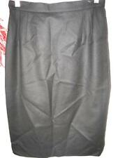 valentino Italy black wool fully lined back zipper skirt size 42/8