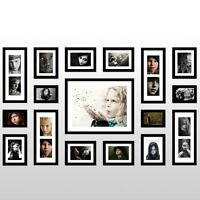 Wall Mounted 17 Pcs Modern Picture set Hanging Art Home Decor  Photo wall Frame