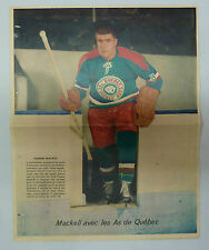 1960 Journal La Patrie Hockey Poster Fleming MacKell / Quebec Aces / AS