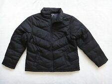 Lands End Women's Jacket Black Petite Down Lightweight Size M Petite