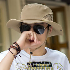 Mens Summer Bucket Cap Outdoor Hunting Fishing Military Foldable Boonie Sun Hat