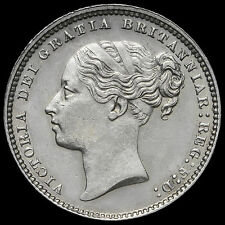 1884 Queen Victoria Young Head Silver Shilling – A/EF