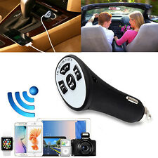Bluetooth Wireless Auto AUX Stereo Audio Receiver FM Adapter USB Ladegerät A2DP