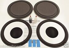 "ESS AMT-1B Speaker Repair Refoam Kit 12"" Passive Radiator & 12"" Woofer w/ Caps!"