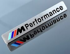 M PERFORMANCE ALUMINUM EMBLEM BADGE STICKER DECAL BMW 1 2 3 4 5 SERIES X1 X3 X5