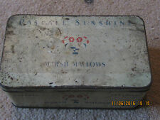 Vintage Pascall Sunshine Marshallow tin circa 1950s- good/fair condition RARE