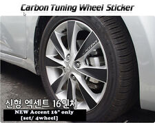 "Carbon Tuning Wheel Mask Sticker For Hyundai New Accent 16"" [2011~on]"