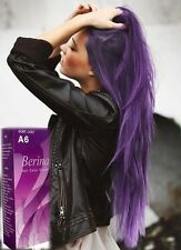 1X Berina A6 Violet Purple Color Hair Cream Color Permanant Super Hair Dye