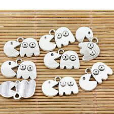 14pcs tibetan silver color PAC-MAN charms finding EF1413