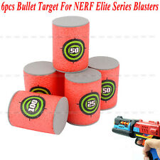6 x EVA Bullet Target Toy Gun Shoot Dart Fr NERF N-Strike Elite Blaster Kids Toy