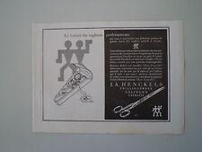 advertising Pubblicità 1936 J.A. HENCKELS - SOLINGEN