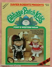 "vintage Cabbage Patch Kids pattern booklet book Western wear and pony 16"" doll"
