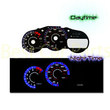 BLACK 00-05 Celica GT BLUE RING INDIGLO REVERSE EL GLOW GAUGE KIT