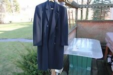 Gianfranco Ruffini Italy Coat Cashmere Blend Black Double Breasted  Men's R-40