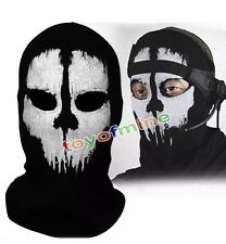UK! Balaclava Ghost Skull Bike Neck Face Mask Paintballing Mask Airsoft Bb hunt