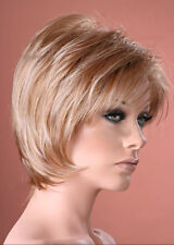 Ladies Pixie Style Neck-Hugging Short Straight Ash Blonde Fashion Style Full Wig