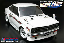 ABC HOBBY RC 1/10 Super Body Mini SUNNY COUPE Clear Body M-chassis,M05,M06 etc