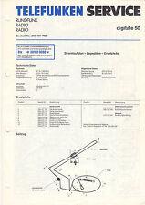 Telefunken Service Manual Stromlaufplan digitale 50   B1424