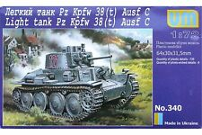 UNIMODELS 340 1/72 Light tank Pz Kpfw 38(t) Ausf C