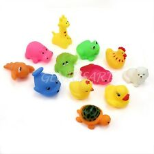 12X Mixed Designs Baby Bath Toy Rubber Animal Bathing Toys for Kids Water Toys