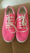 SIZE 7.5 U.S. / SIZE 5 UK. WOMEN'S HOT PINK VANS EUC