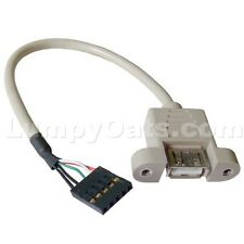 Internal USB A/F to Mobo Pinout Adapter Cable NEW
