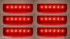 6 Stk. SET 24V SMD 6 LED ROT HINTEN SEITENMARKIERUNGSLEUCHTEN POSITION-LKW