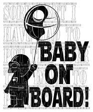 Star Wars Darth Vader Death Star baby on board child vinyl decal sticker sign