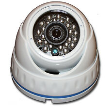 AHD 1080P Dome Camera 2MP CMOS Fixed 3.6mm Surveillance White Outdoor HD