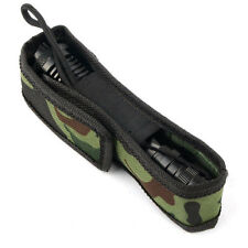 Flashlight Torch Lamp Oilproof Camouflage Holster Case Bag Pouch Protector