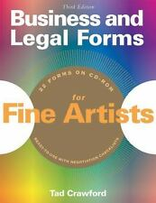 Business and Legal Forms for Fine Artists by Tad Crawford (2005, Paperback)