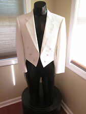 BOYS VINTAGE WHITE TAIL COAT BY CHRISTIAN DIOR 14B