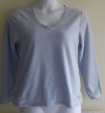 Tommy Hilfiger Womens Size M Medium Sleepwear Top Long Sleeve Shirt Baby Blue