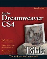 Dreamweaver CS4 Bible Lowery, Joseph Paperback